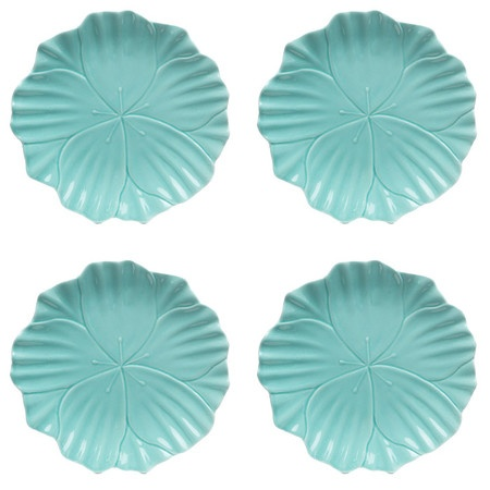 Set you table in eye-catching elegance with this beautiful dining essential.   Product: Set of 4 salad platesConstruc...