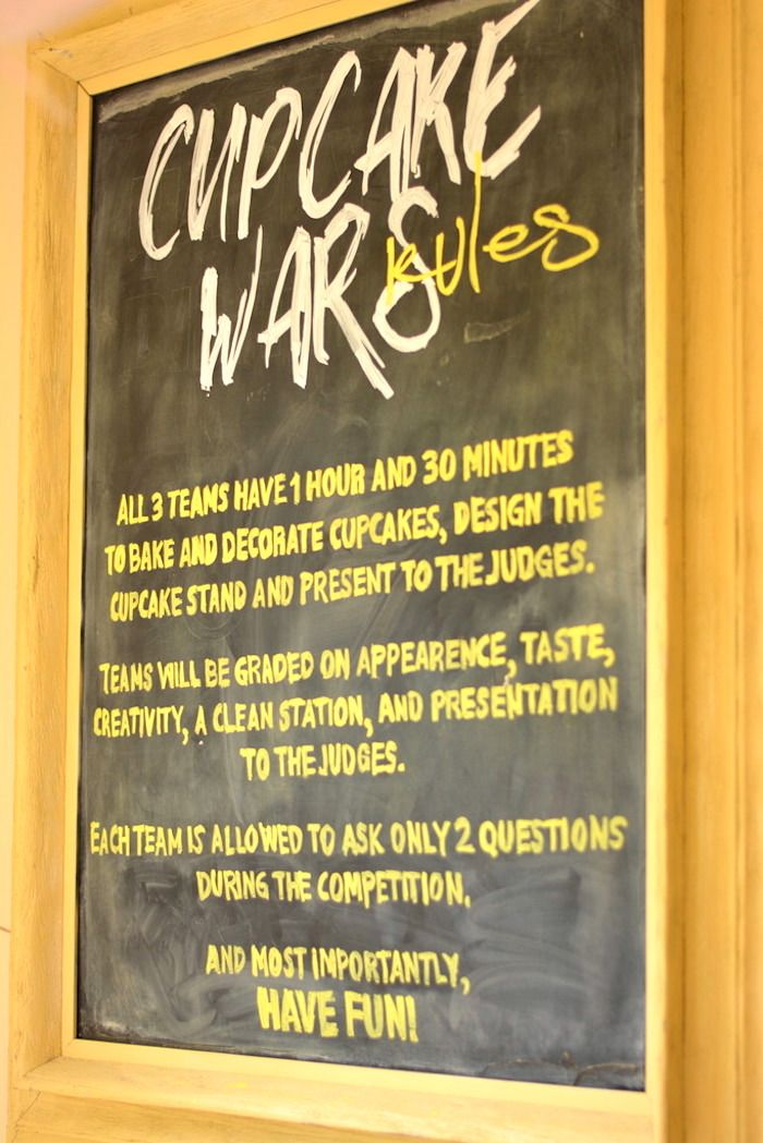 Rule board from a Cupcake Wars Birthday Party on Kara's Party Ideas | KarasPartyIdeas.com (20)
