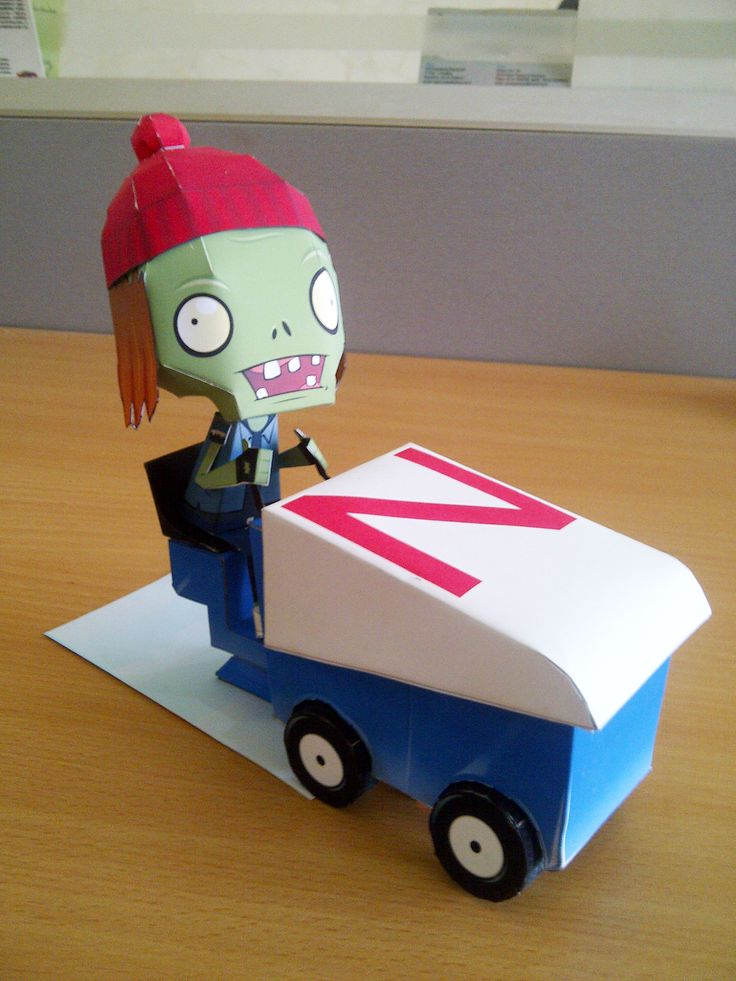 Zomboni Plants Vs Zombies Papercraft 6