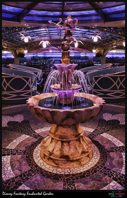 The Enchanted Garden on the Disney Fantasy Cruise Ship
