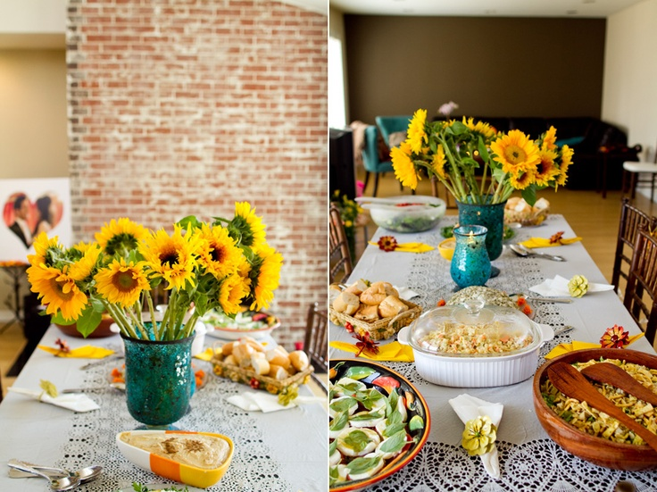 +sunflower table centerpiece