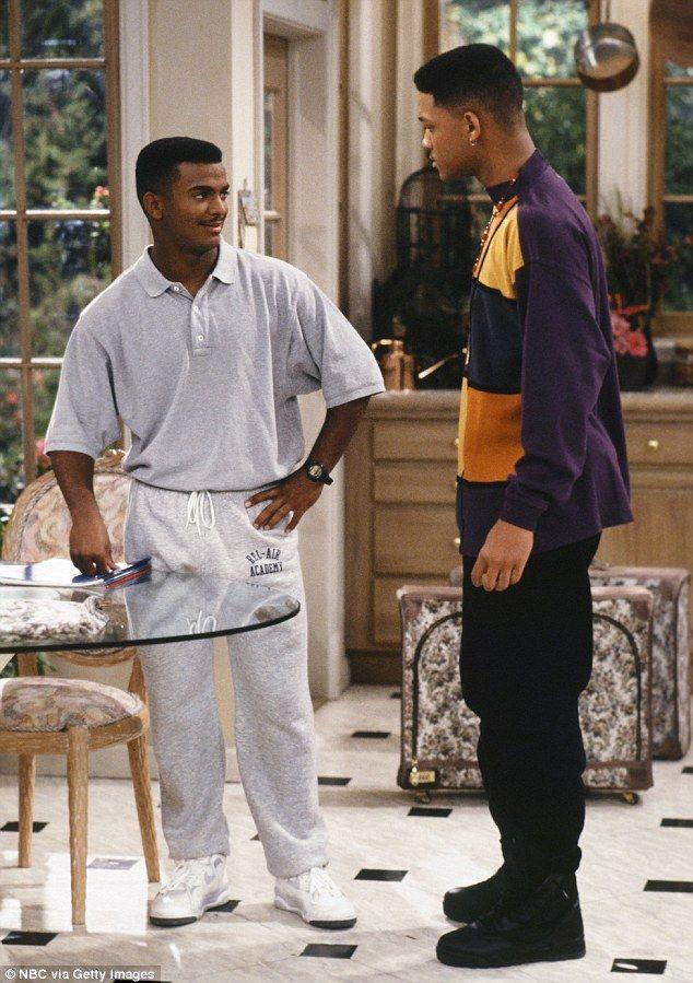 """Alfonso Ribeiro as Carlton Banks and Will Smith as Will """"The Fresh Prince"""" Smith in """"The Fresh Prince of Bel-Air"""" (TV Series)"""