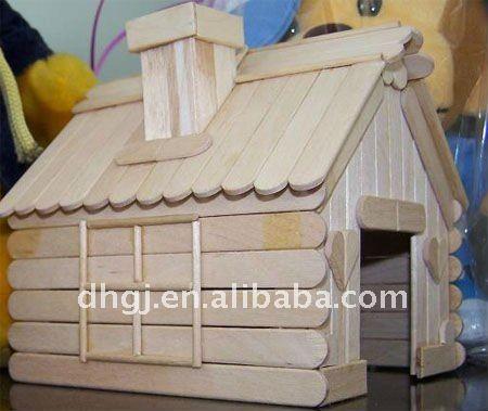 popscicle stick houses | maison de bâton de popsicle votre paradis d'animal familier-Autres ...