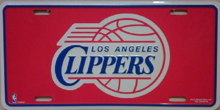Los Angeles Clippers Tag  License Plate #LosAngelesClippers