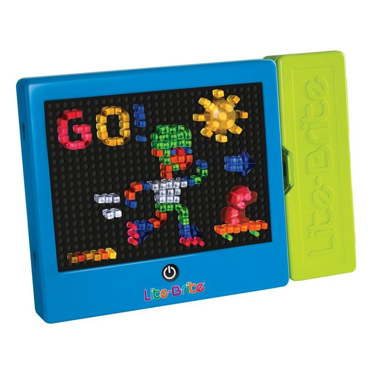 Hasbro Lite Brite The classic toy Hasbro Lite Brite toy comes back to life with a new design but all the same fun as the original. Create stunning light displays, snap a pic of it and then start all o