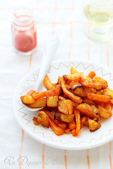 Pommes de terre et carottes rôties aux épices à tandoori ©Edda Onorato