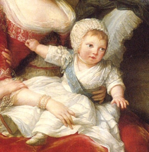 "Louis XVII, or Louis-Charles de France, was born on March 27th, in 1785. He was the second son of Louis XVI and Marie Antoinette and was known as the queen's ""chou d'amour."" He was titled the Duke of Normandy until the death of his elder brother in 1789, when he became the dauphin of France. He became the king of France in name only after the execution of his father in 1793, but was soon separated from his family to be ""re-educated"" as a ""true Republican."" The abuse and neglect at the"