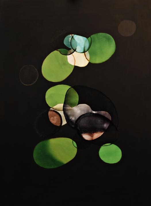 2012-015 • shine balls - fénygömbök 15 - 140 x 100 cm - acrylic and lacquer on canvas - akril, lakk, vászon - romvári márton contemporary art