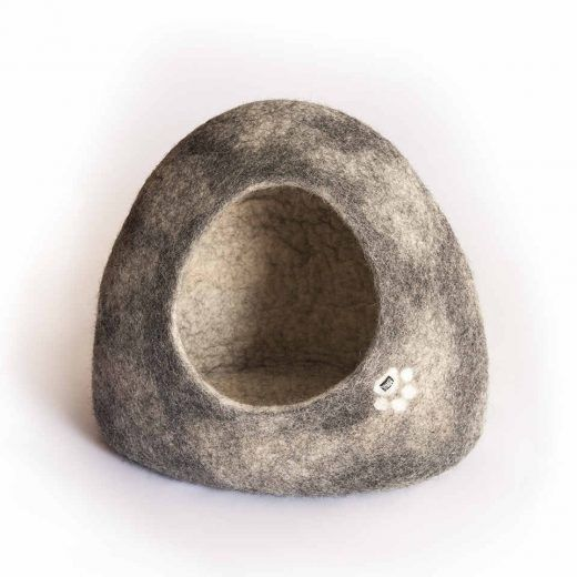 Igloo cat cave grey with white shades by Wooppers