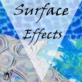 The polymer clay surface effect tutorials on this page will include everything to do with manipulating the surface of your clay. From silk screening, through texturing and antiquing, to using newer products like Swellegant and Pebeo paints.