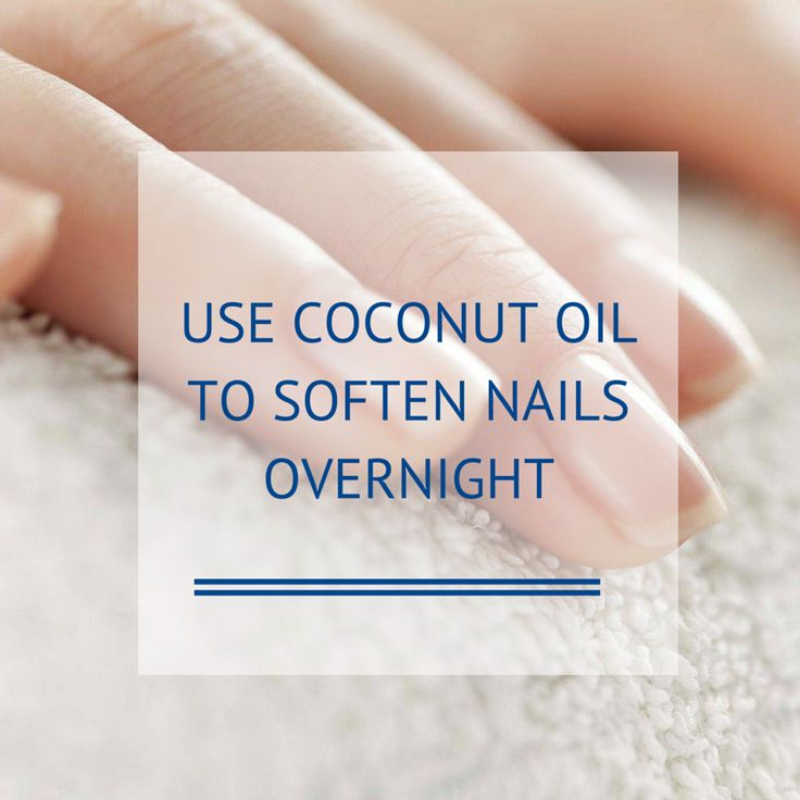 You can soften your cuticles overnight by using a small amount of coconut oil to moisturize the cuticles and strengthen the nails.