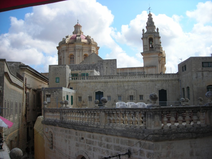 The dome of the catherdral in Medina, Malta