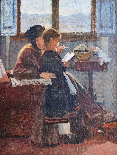 Silvestro Lega, La lezione, 1871-1872