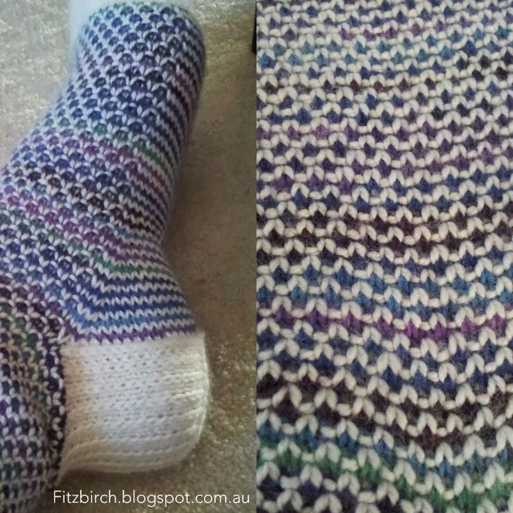 I love these socks. Very simple to make but, oh so effective. The pattern is available as a free Ravelry download by handepande and the ...