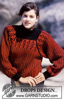 "DROPS 11-6 - DROPS patterned jumper with raglan sleeve in ""Karisma"". Size S - L. - Free pattern by DROPS Design"