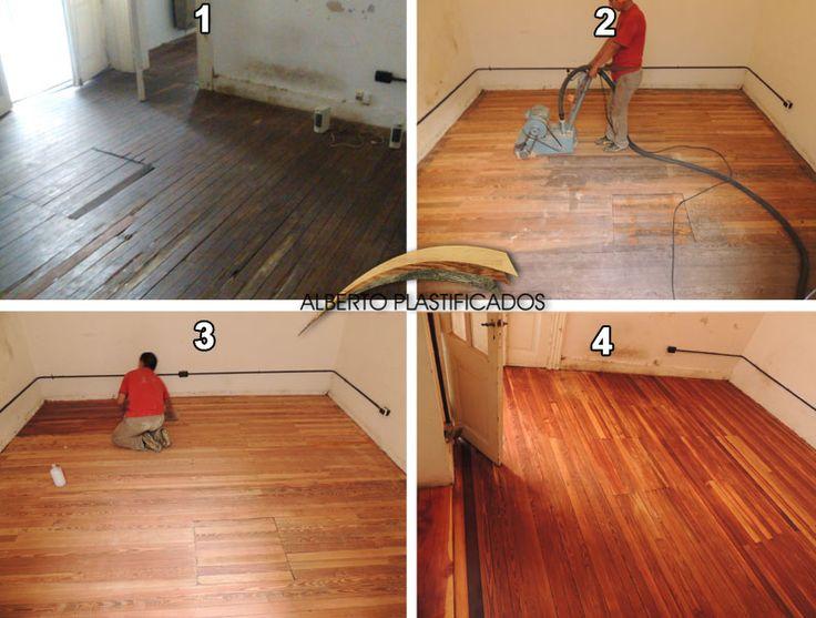 arreglo, pulido y encerado de piso de pinotea