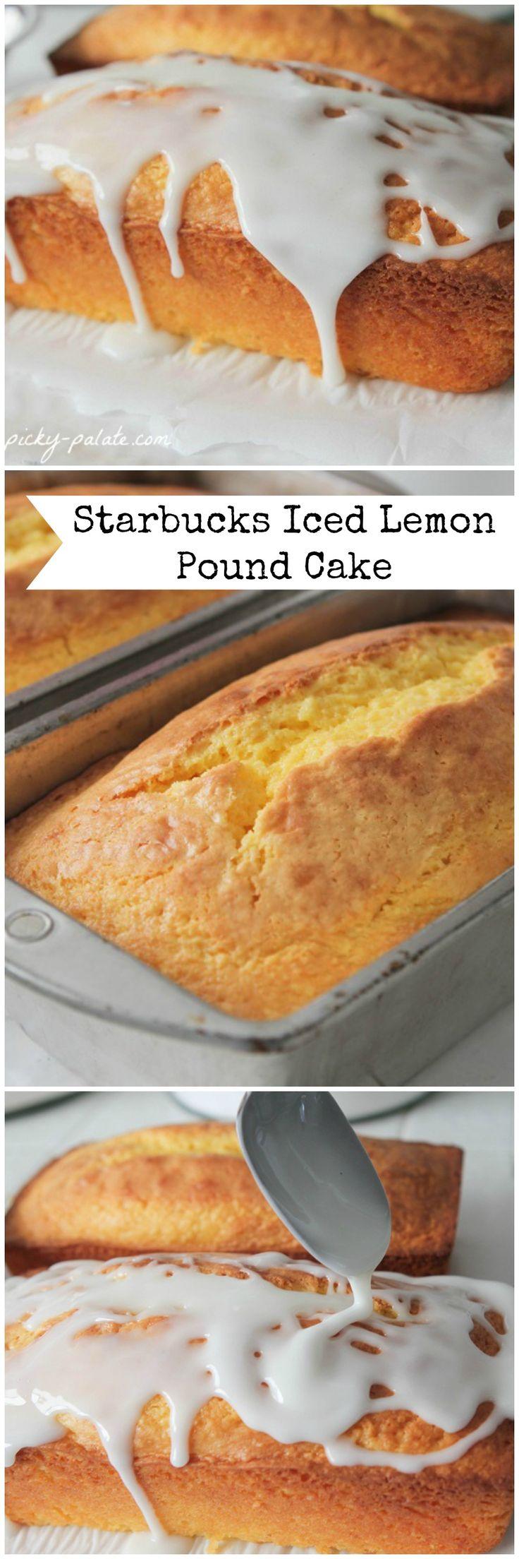Starbucks Iced Lemon Pound Cake Copycat Recipe!