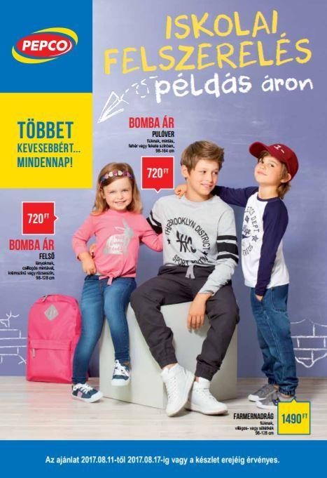Pepco Akciós Újság 2017 augusztus 11-17-ig: Iskolai felszerelés, Pulóver, Felső, Farmernadrág és még sok más ajánlat ebben a 8 oldalas Pepco katalógusban.