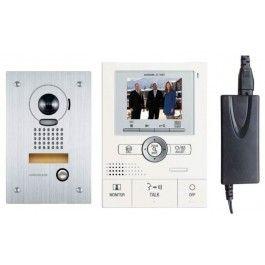 Aiphone Colour Intercom Kit JKS Handsfree with Flushmounted Door Station