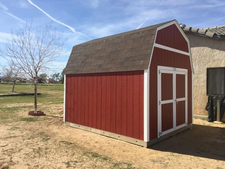 Thereu0027s Nothing Like A Beautiful Blue Sky Behind A Big, Red Tuff Shed Barn.