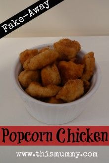 Homemade Popcorn Chicken
