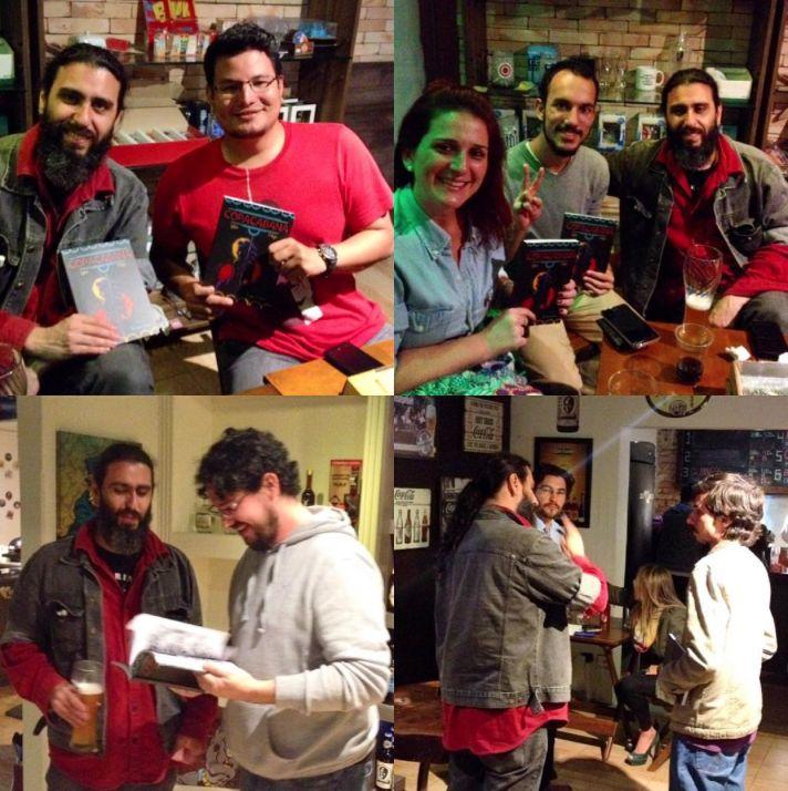 Lançamento e noite de autógrafos da graphic novel COPACABANA com S. Lobo, na Casa do Chef.