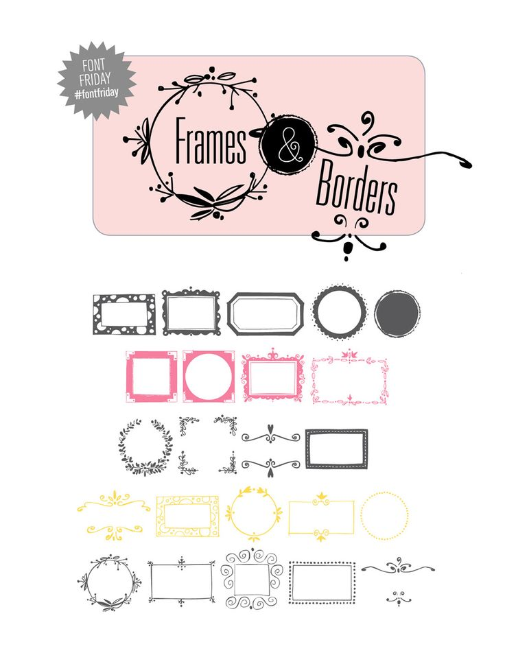 21 best Framing/borders images on Pinterest | Frames, Fonts and ...