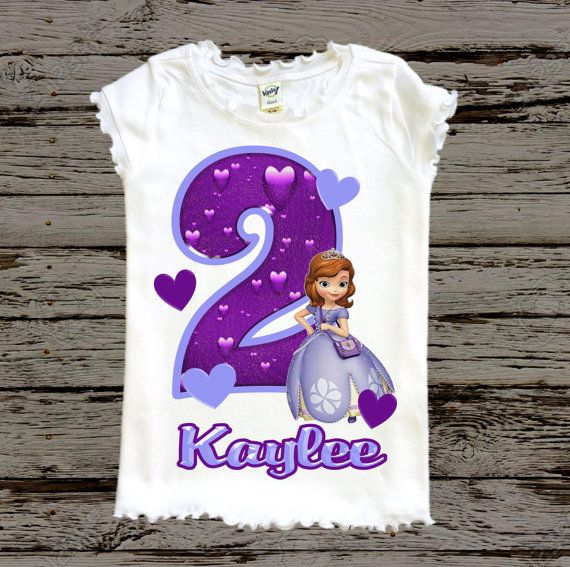 Sofia the First Birthday Shirt Sofia Shirt door BellaFashionDesignz