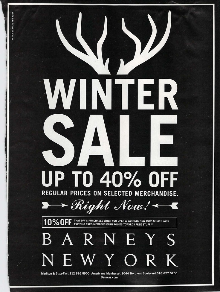 Barneys Winter Sale #Barneys #Sale #Advertisement