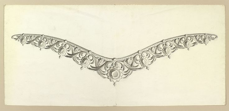 Design for a diadem by Prince Albert, Prince Consort, consort of Victoria, Queen of the United Kingdom (1819-61)