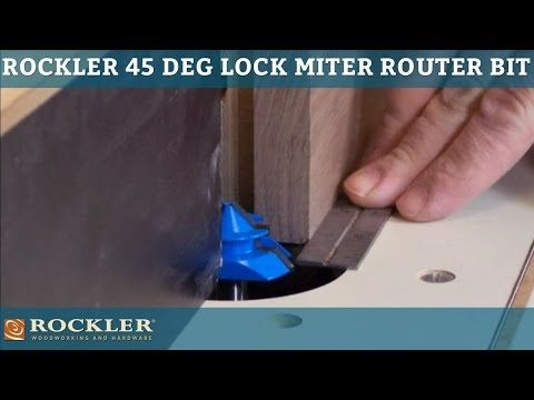 Learn more about the Rockler 45-degree Lock Miter Router Bit.