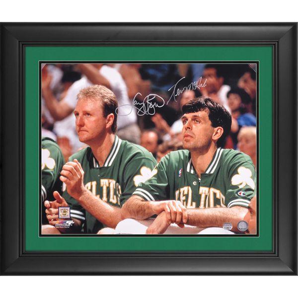 "Larry Bird, Kevin McHale Boston Celtics Fanatics Authentic Framed Dual Signed 16"" x 20"" Horizontal Bench Photograph - $369.95"