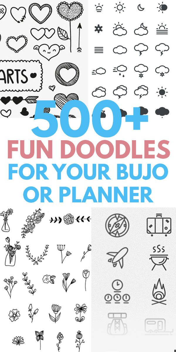 500 Doodles To Dress Up Your Bujo Cute Easy Doodles Simple
