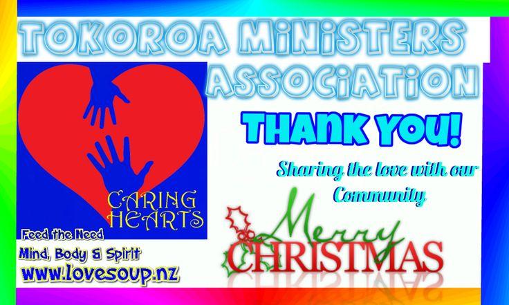 #Tokoroa Ministers Association #ThankYou #CaringHearts #Kindness #Giftoflove