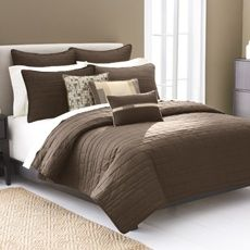 Image result for white sheets brown comforter
