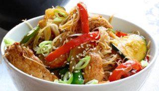 Sauté asiatique légumes et poulet