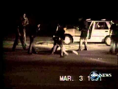 Police senselessly beat an african american man, Rodney King, which results in a full out riot in the LA area