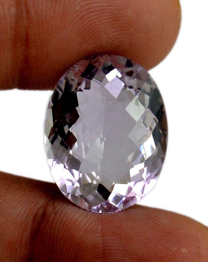 22ct VS Big Rare Natural Light Purple Amethyst Quartz Faceted Loose Gemstone #krishnagemsnjewels