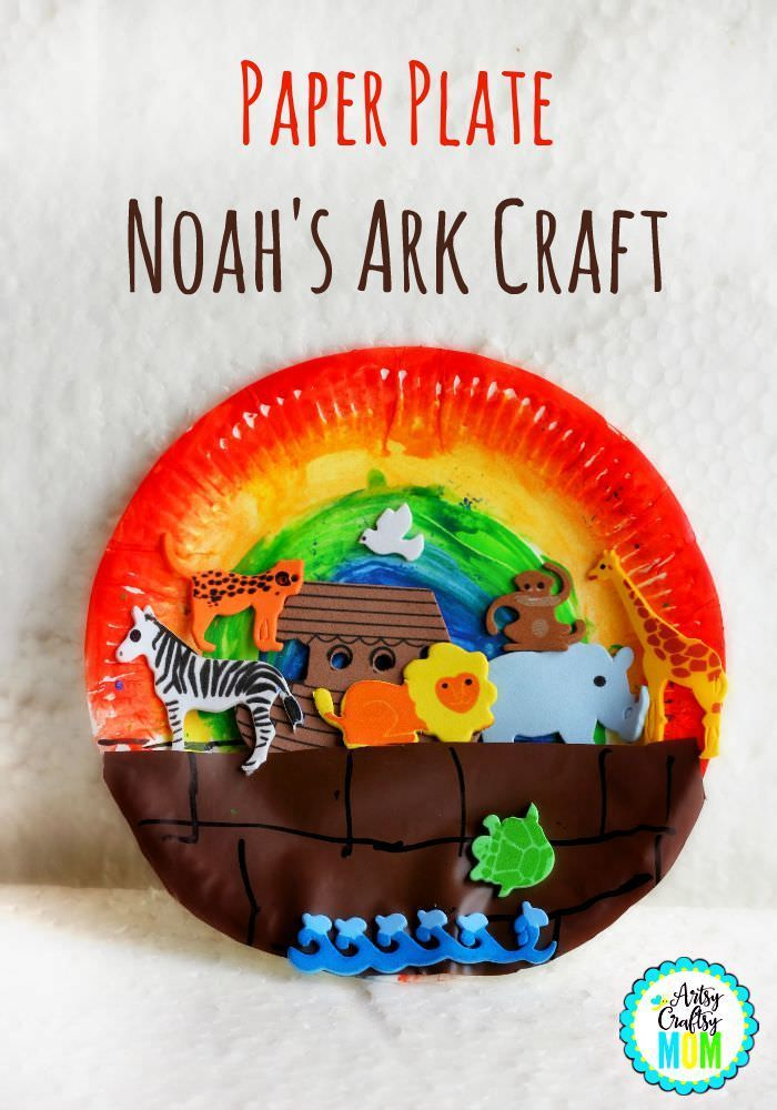 Paper plate Noah's Ark Craft- Paper Plate Noah's Ark Craft - Bible activities  http://artsycraftsymom.com/craft-class-noahs-arc-craft/?utm_content=buffere4bfb&utm_medium=social&utm_source=pinterest.com&utm_campaign=buffer  This Noah's Ark has room for plenty of animals. Kids will love creating it and arranging them two by two. Goes with book -  The Boat of Many Rooms: The Story of Noah in Verse