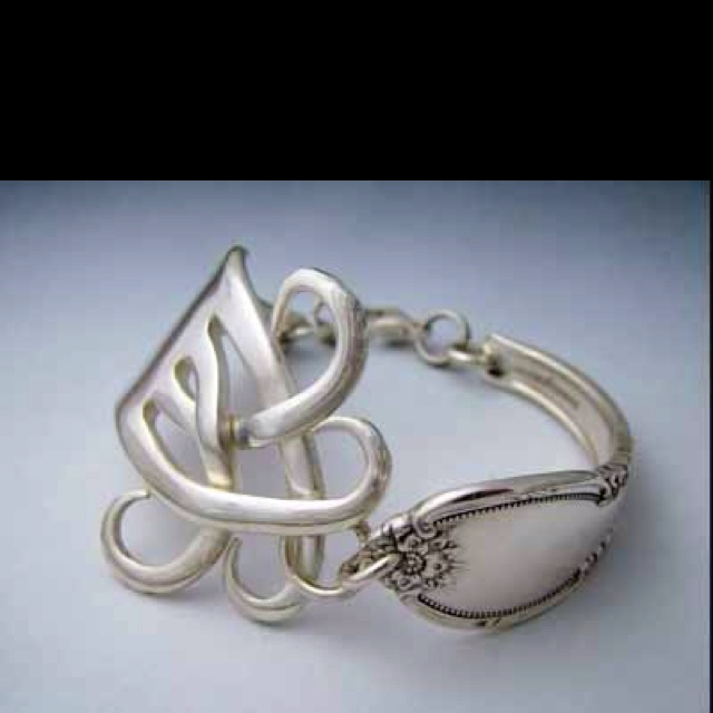 Fork and spoon jewelry.. Awesome!  I still have my mom's spoon ring and fork bracelet.