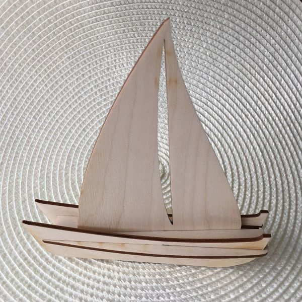 Sailing Boat Wooden Decorative
