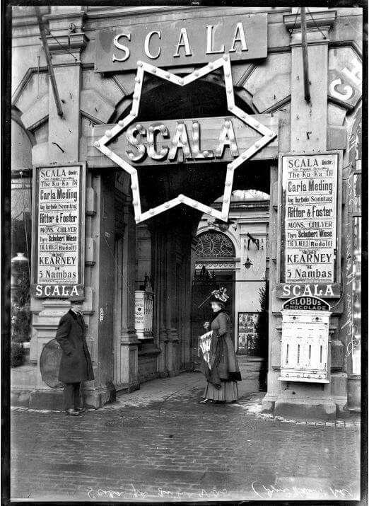 Indgangen til Scala på Vesterbrogade i 1912