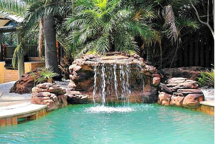 11 Best Swimming Pool Water Falls Images On Pinterest Artificial Rocks Pool Landscaping And