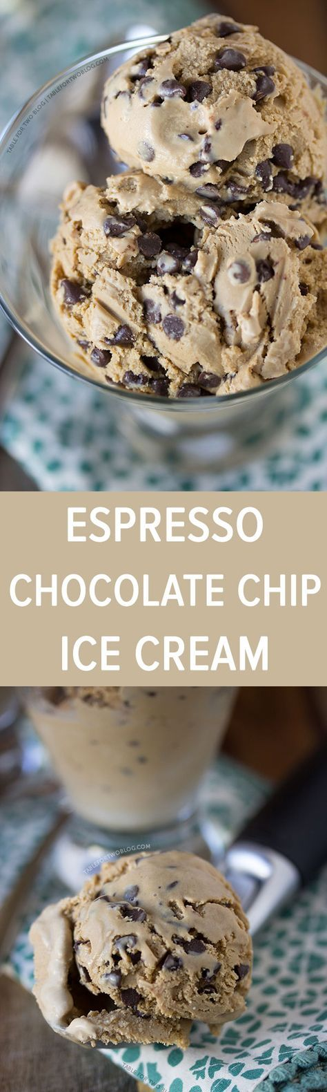 Beth said this was really good Espresso Chocolate Chip Ice Cream from www.tablefortwobl...