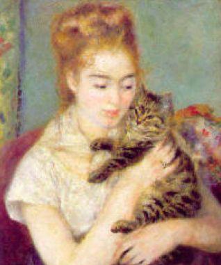 charmante #beauté de la #jeunefille au #chat de #renoir pour la #photodulundi #BlogGymYoga http://blog.gym-yoga.fr/jeune-fille-au-chat-de-renoir/
