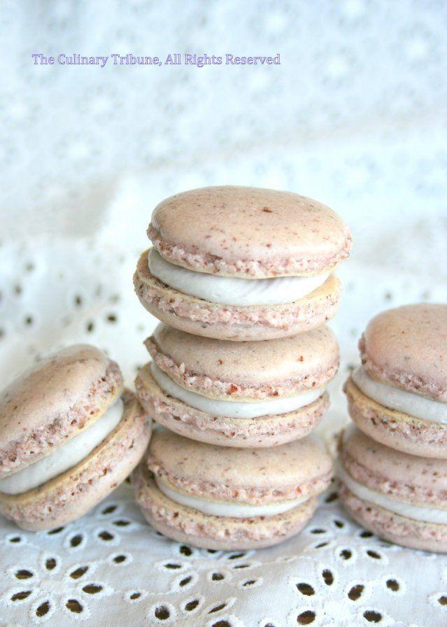 Blackberry Macarons | Culinary Tribune | Pinterest