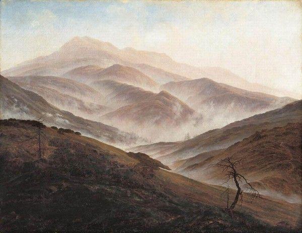 Riesengebirge-Landscape-with-Rising-Fog-1819-20-Neue-Pinakothek-Munich