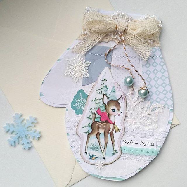 JOYFUL, JOYFUL! Have a nice day⛄ #cardmaking #happymailday #happymail #snailmailer #snailmail #sendmoremail #mittens #gloves #snow #papercrafts