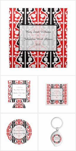 New Zealand Wedding Maori Kowhaiwhai themed wedding Design. This design can be found on a collection of wedding invites, stamps and other products. A modern, trendy, Maori, Kowhaiwhai Pattern. Traditional Red, Black and White pattern. Designed in Aotearoa / New Zealand.