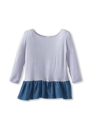 90% OFF water+son Girl's Long Sleeve Ruffle Top (Lilac)